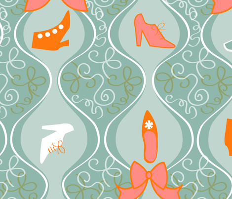 Rococo Shoes fabric by acbeilke on Spoonflower - custom fabric