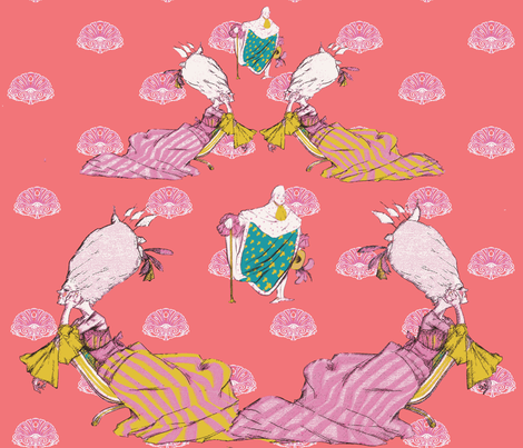 How do you solve a problem like Marie ?-ch fabric by cakeworth&penningtons on Spoonflower - custom fabric