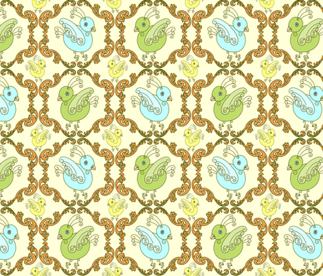 Coco Birds fabric by kdl on Spoonflower - custom fabric