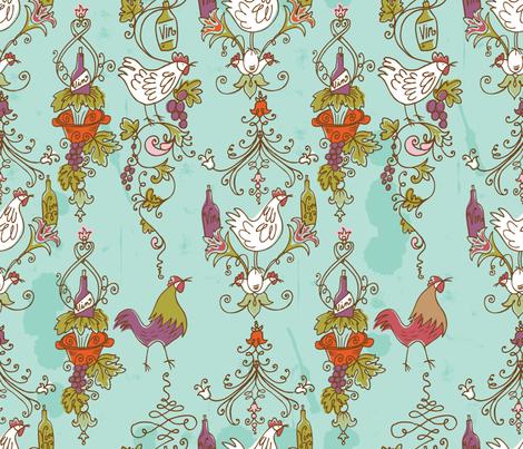Ro-Coq-Au-Vin fabric by cynthiafrenette on Spoonflower - custom fabric