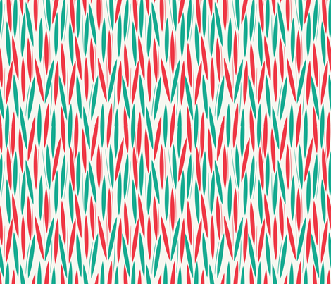 Leaf Cuts: Surf/Coral  fabric by circlesandsticks on Spoonflower - custom fabric