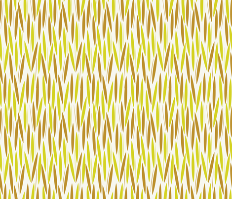 Leaf Cuts: Sand/Lemon fabric by circlesandsticks on Spoonflower - custom fabric