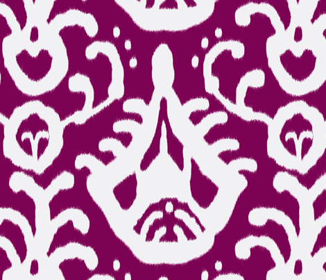 grape ikat fabric by domesticate on Spoonflower - custom fabric