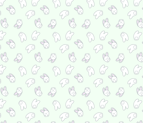 smallbunnies2 fabric by lighthearts on Spoonflower - custom fabric