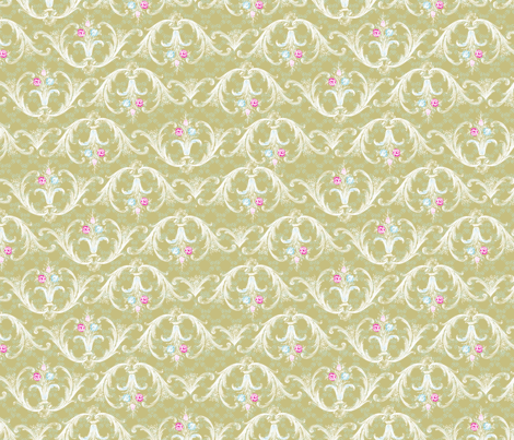 Late Boroque fabric by nancierowejanitz on Spoonflower - custom fabric