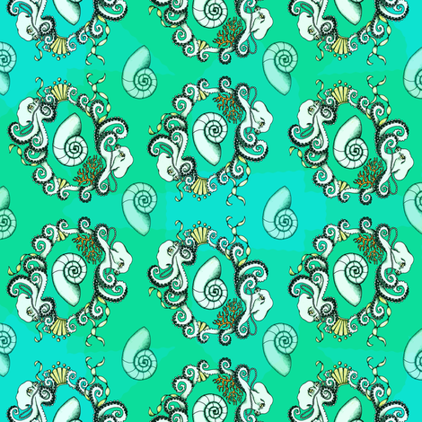 Neo Rococo Octopi fabric by rayne on Spoonflower - custom fabric