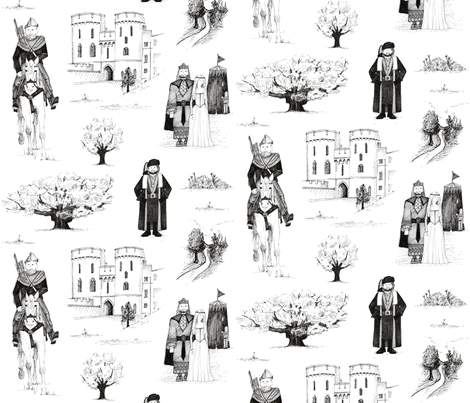Robin Hood ~ Toile de Jouy fabric by scrummy on Spoonflower - custom fabric