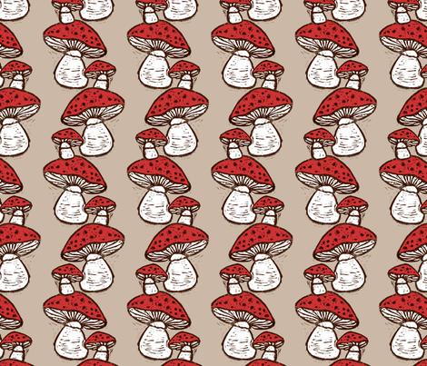 Mushrooms fabric by kim_buchheit on Spoonflower - custom fabric