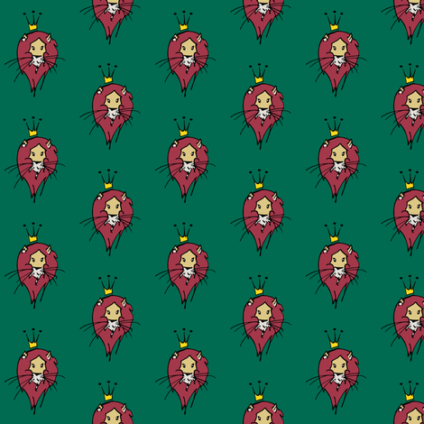 King fabric by pond_ripple on Spoonflower - custom fabric