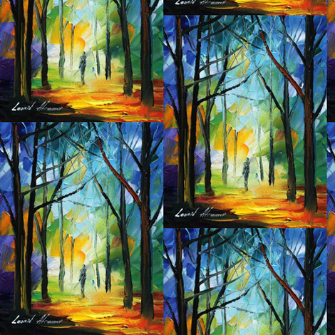 Morning Path fabric by afremov_designs on Spoonflower - custom fabric