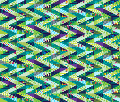 The Way Through the Woods fabric by spellstone on Spoonflower - custom fabric
