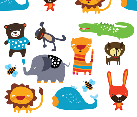Animal Patch fabric by suryasajnani on Spoonflower - custom fabric