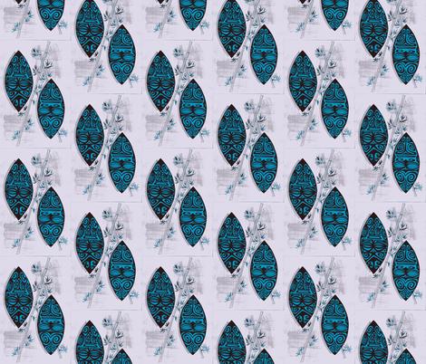 saphire marquesians-ch fabric by sophista-tiki_by_dawn_frasier on Spoonflower - custom fabric