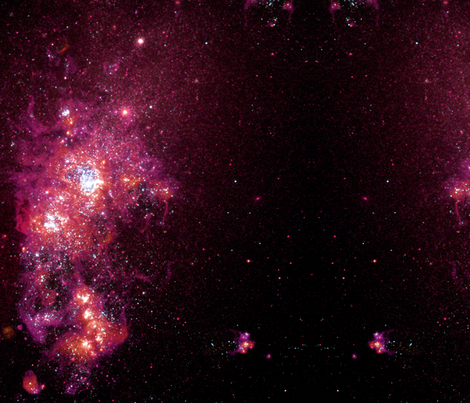 Red Star Field Galaxy