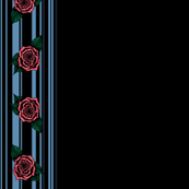 Blue Rose Borders