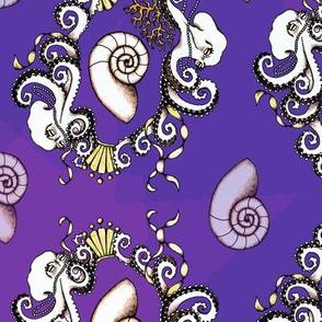 Rococo Octopi in purple