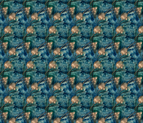 Mice_in_Blue fabric by ddmote on Spoonflower - custom fabric