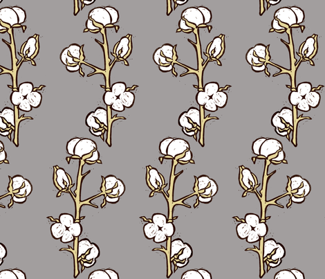 Cotton Plant fabric by kim_buchheit on Spoonflower - custom fabric