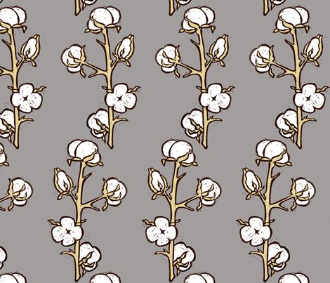 Cotton Plant fabric by kim_buchheit on Spoonflower - custom fabric