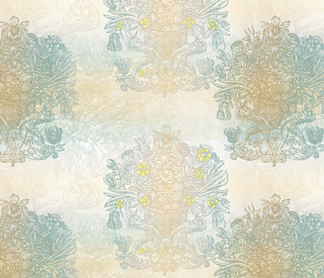 Rococo - Cream fabric by mudstuffing on Spoonflower - custom fabric