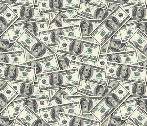 It's All About the Benjamins, Baby fabric by jaana on Spoonflower - custom fabric