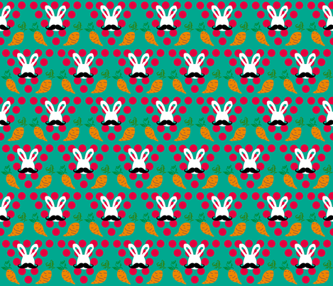 Hoppily Disguised Vegetarian fabric by bee_smiles on Spoonflower - custom fabric