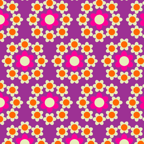 Daisy_Chain purple fabric by aliceapple on Spoonflower - custom fabric