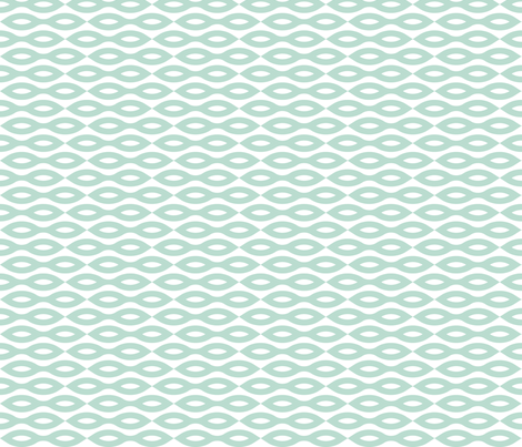 Ripples - Aqua (large print) fabric by happysewlucky on Spoonflower - custom fabric