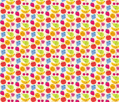 Sweet and Happy fruits fabric by irrimiri on Spoonflower - custom fabric