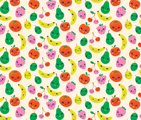 Cute Fruit fabric by irrimiri on Spoonflower - custom fabric