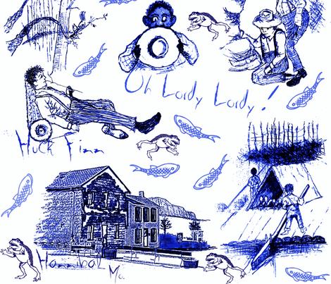Freedom / blue fabric by paragonstudios on Spoonflower - custom fabric