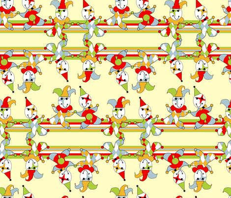 jokers jumping up and down fabric by stsannette on Spoonflower - custom fabric