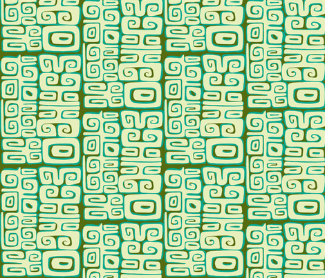 Absractiva, Matuku, tidepool fabric by sophista-tiki_by_dawn_frasier on Spoonflower - custom fabric