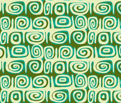 Abstractiva , Matuku Strip, tidepool fabric by sophista-tiki_by_dawn_frasier on Spoonflower - custom fabric