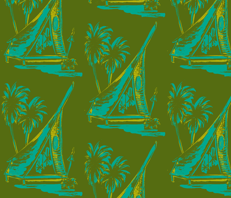 MO_Fabrics_A=frame  Dk green-ch-ch-ch fabric by sophista-tiki on Spoonflower - custom fabric
