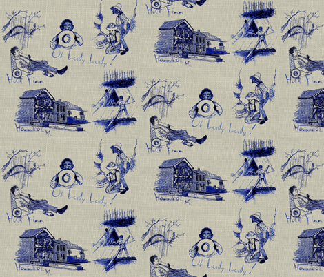 Freedom / blue fabric by paragonstudios on Spoonflower - custom fabric