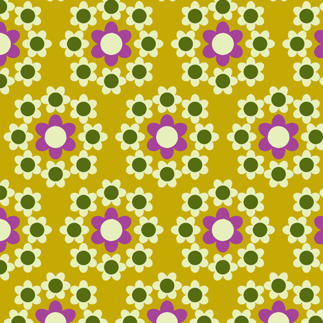 Daisy_Chain mustard fabric by aliceapple on Spoonflower - custom fabric