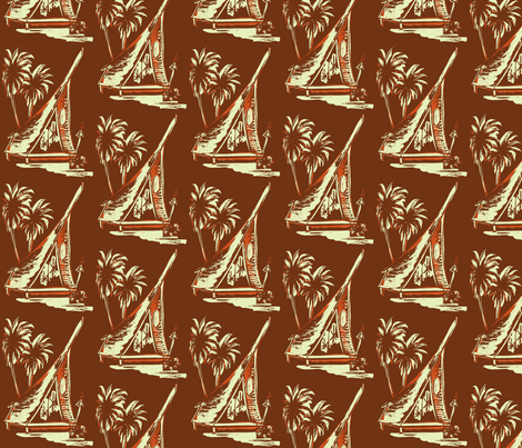 A-frame  brown fabric by sophista-tiki_by_dawn_frasier on Spoonflower - custom fabric