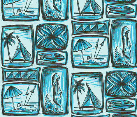MO_Fabrics_day seabreese blu fabric by sophista-tiki on Spoonflower - custom fabric