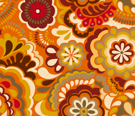 Autumn Swirls_Big size fabric by chulabird on Spoonflower - custom fabric