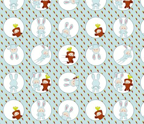 Rabbit Suit fabric by ttoz on Spoonflower - custom fabric