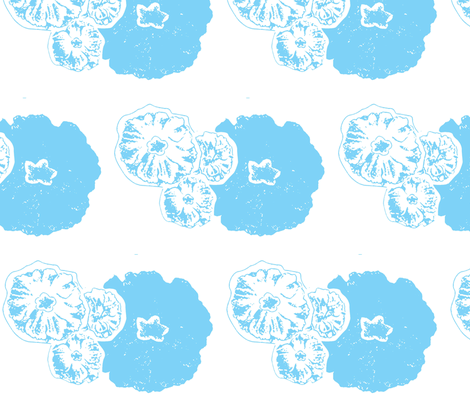 Flowers Snow fabric by dolphinandcondor on Spoonflower - custom fabric