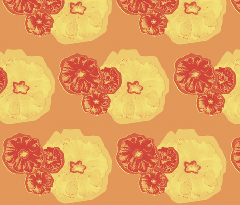 Flowers Orange fabric by dolphinandcondor on Spoonflower - custom fabric