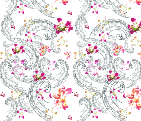 Paisley pen fabric by sketchtex on Spoonflower - custom fabric