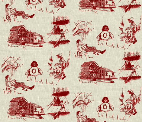 Freedom / Red on linen   (zoom lg. view) fabric by paragonstudios on Spoonflower - custom fabric