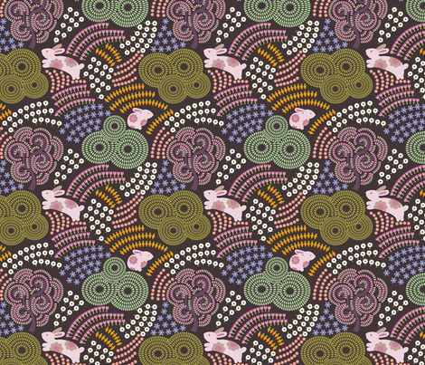 Pink Bunny fabric by chulabird on Spoonflower - custom fabric