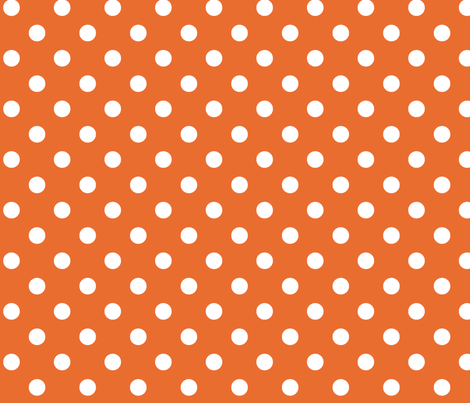Clown dots_orange fabric by chulabird on Spoonflower - custom fabric
