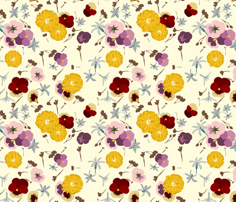 Edible Flowers 2 fabric by marlene_pixley on Spoonflower - custom fabric