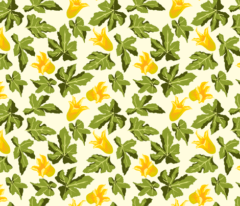 Zucchini 2 fabric by marlene_pixley on Spoonflower - custom fabric