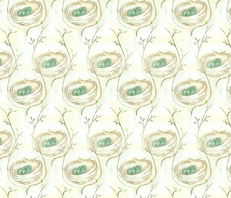 Little_Nest_Sketch fabric by ddmote on Spoonflower - custom fabric